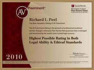 AV Preeminent Richard L. Peel 2010