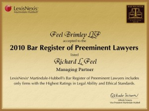 2010 Bar Register of Preeminent Lawyers  Richard L. Peel