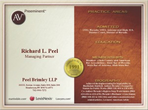 AV Preeminent Richard L. Peel