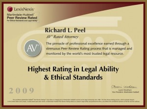AV Rated Attorney Richard L. Peel 2009