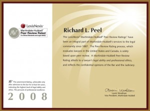 AV Rating Richard L. Peel 2008