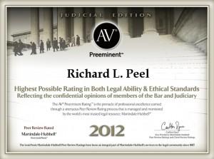 AV Preeminent Richard L. Peel 2012