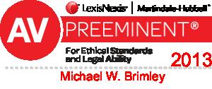 AV Preeminent 2013 - Michael W. Brimley