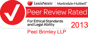 Peer Review Rated 2013 - Peel Brimley LLP