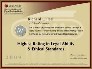 AV Rated Attorney Richard L. Peel 2009