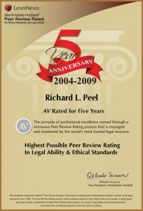 5th Anniversary AV Rated for 5 Years Richard L. Peel