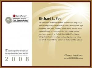 AV Rating Richard L. Peel 2008