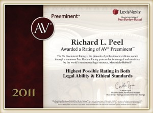 AV Preeminent Richard L. Peel 2011