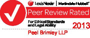 Peer Review Rated 2013 - Peel Brimley LLP
